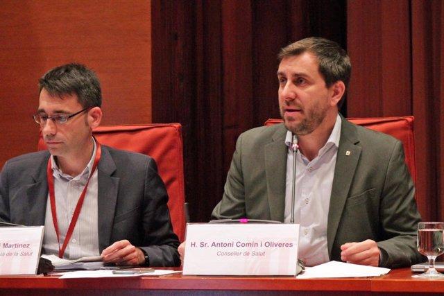 El conseller Toni Comín en el Parlament