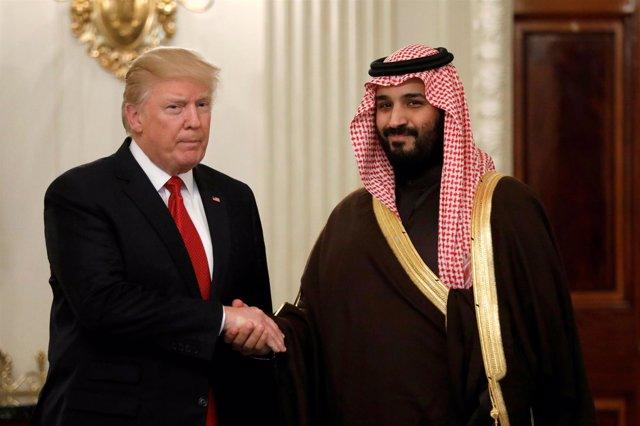 Trump recibe al príncipe heredero de Arabia Saudí, Mohamed Bin Salman