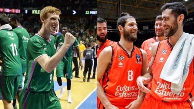 Unicaja y Valencia Basket, a un partido del título de la Eurocup