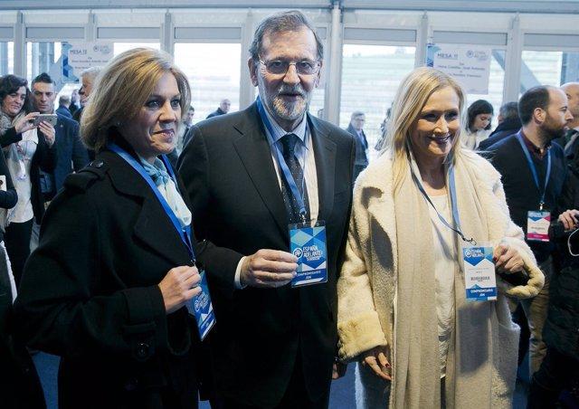 Cospedal, Rajoy y Cifuentes en el Congreso Nacional del PP