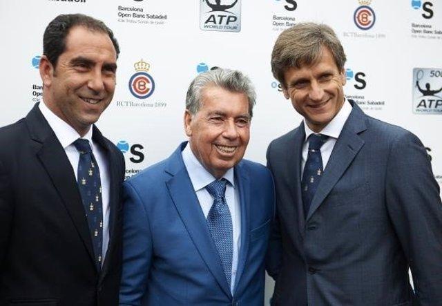Albert Costa y Manolo Santana