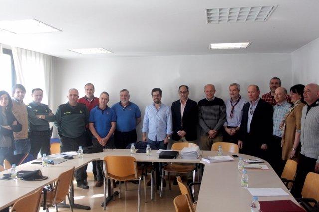 Soria: Carazo (C) con los representantes de entidades con las que se ha reunido