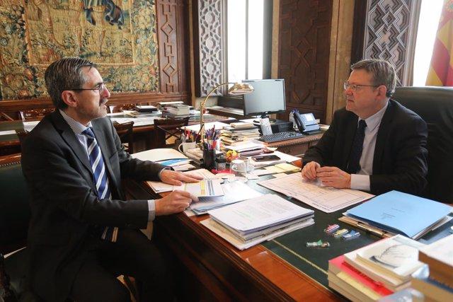 Reunión entre Ximo Puig y José María Ángel