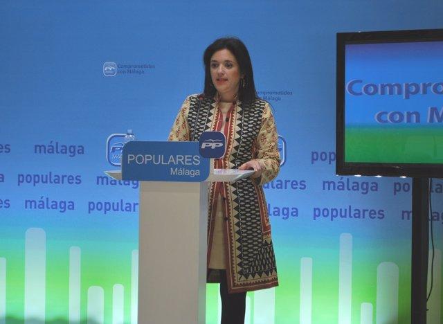 Margarita del Cid, en rueda de prensa.