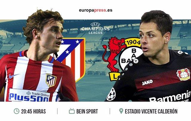 Horario y dónde ver el Atlético de Madrid – Bayern Leverkusen | Vuelta ocatvos d