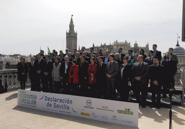 Ciudades firmantes de la Declaración de Sevilla
