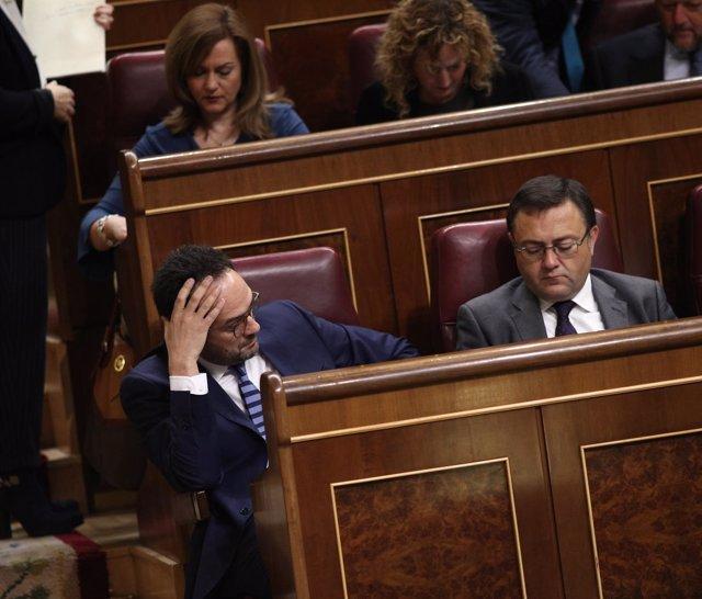 Antonio Hernando y Miguel Ángel Heredia, del PSOE