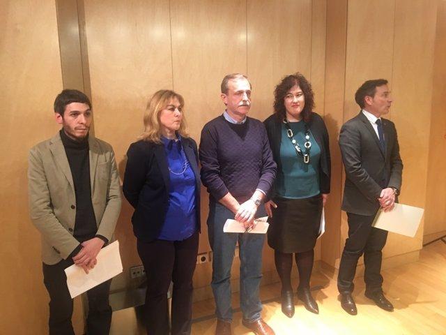Unidos Podemos, PSE, ASVIAMIE, Bildu Y PNV