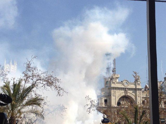 Mascletà de este miércoles 15 de marzo desde la Plaza del Ayuntamiento
