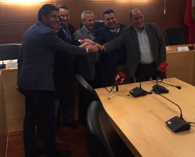 Alcaldes de Simancas, Zaratán, Laguna, Arroyo y La Cistérniga