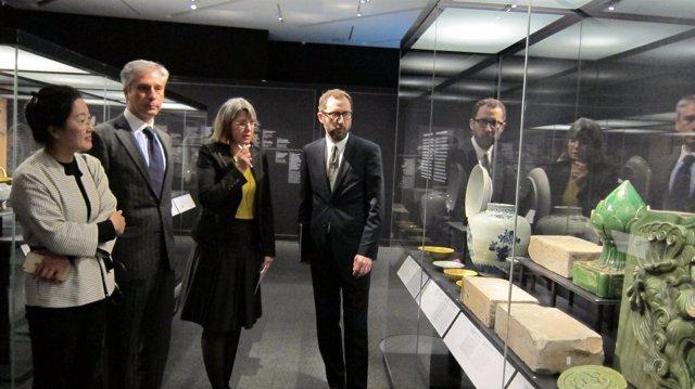 Presentación de la exposición 'Ming. El imperio dorado', en CaixaForum Zaragoza
