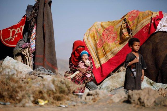 Desplazados por el conflicto en Yemen