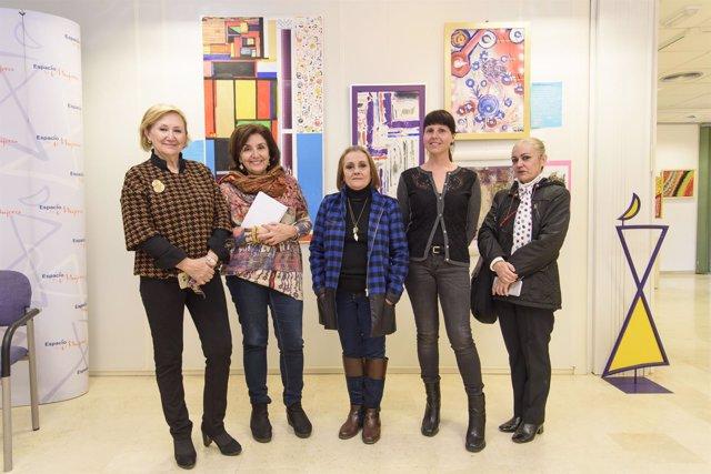 Las paredes de Espacio de Mujeres acogen la obra de María Teresa Artero Viola.