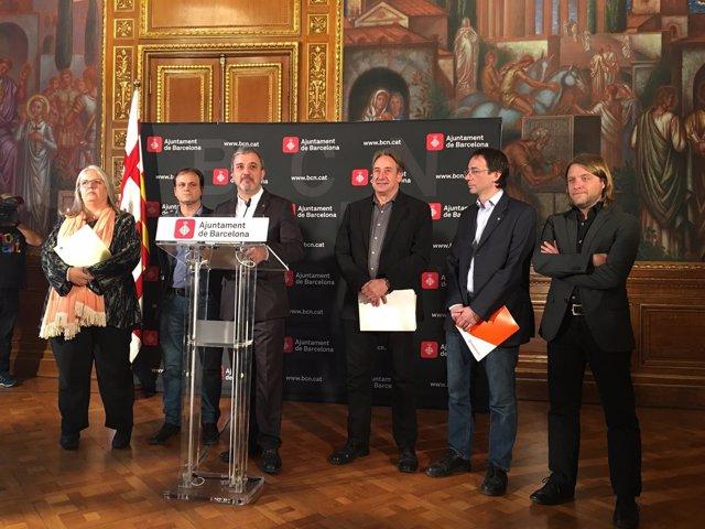 M.Fandos, J.Asens, J.Collboni, J.Puigcorbé, S.Alonso y D.Escudé