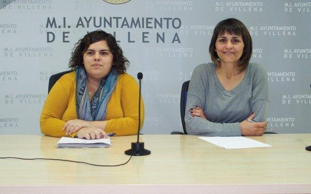 La alcaldesa en funciones y la concejala de Educación de Villena