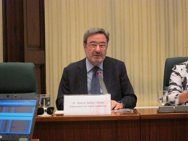 Narcís Serra, durante su comparecencia