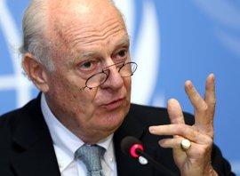 """De Mistura dice que los atentados en Damasco """"estaban diseñados para echar a perder"""" las conversaciones sobre Siria"""