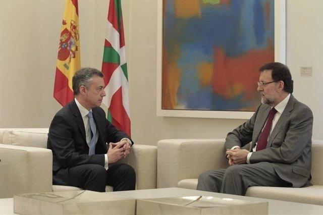 Iñigo Urkullu con Mariano Rajoy