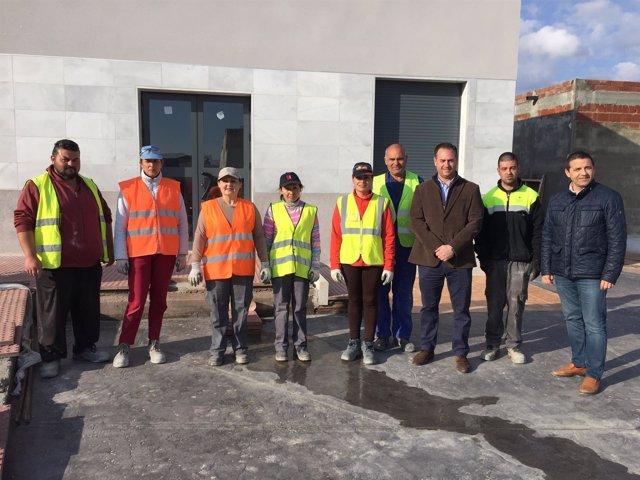 Guillermo Casquet ha visitado las obras en el Centro de Salud de Macael.
