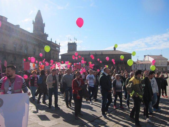 Marcha de trabajadores públicos por el fin de la precaridad