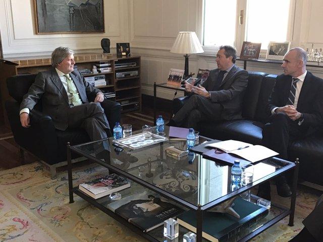 Espadas y Méndez de Vigo se reúnen en Madrid sobre el Año Murillo