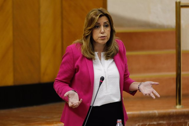 Susana Díaz responde a los portavoces de la oposición en el Parlamento andaluz