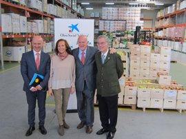 Más de 2.500 escolares visitaron el Banco de Alimentos de Valladolid en 2016 con la colaboración de Obra Social La Caixa