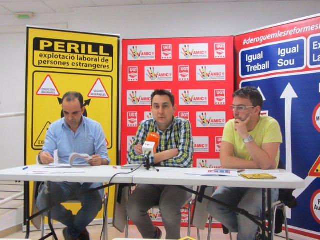 Mohamed Dauoieb, Óscar Riu y David Papiol