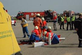 Junta coordina un simulacro de accidente aéreo en el aeropuerto activando el Plan Territorial de Emergencias