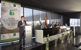 Reyes subraya el papel de Diputación en la gestión del ciclo integral del agua