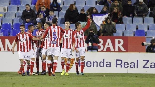 El Girona gana en Zaragoza