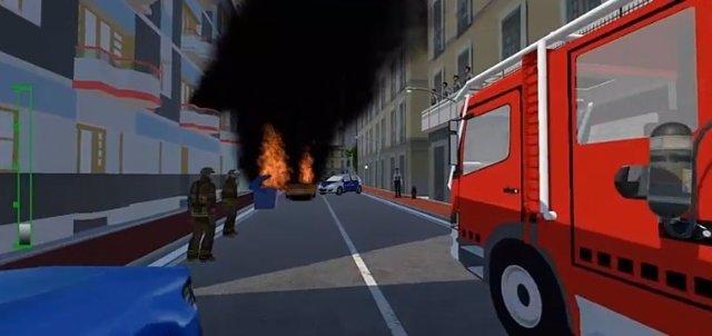 Simulador de emergencias en línea para los Bomberos