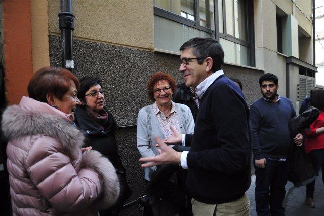 Patxi López ha visitado Teruel este lunes.
