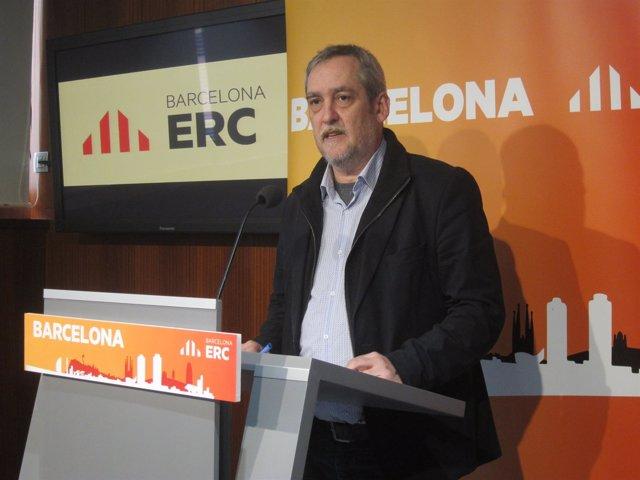 El portavoz de ERC en el Ayuntamiento de Barcelona, Jordi Coronas