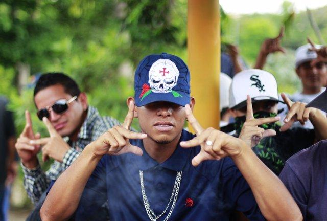 Pandilleros salvadoreños