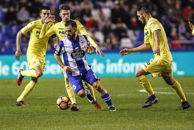Deportivo y Villarreal empatan sin goles en Riazor