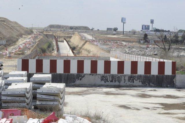 Obras del tren entre Móstoles y Navalcarnero