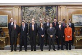 La Reina Letizia recibe en Zarzuela a la Fundación Línea Directa