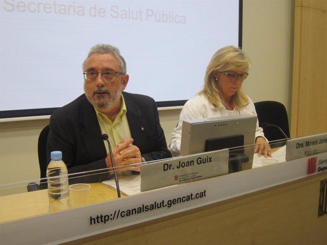 Joan Guix y Mireia Jané (Conselleria Salud)