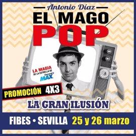 El Mago Pop llega a Sevilla los próximos 25 y 26 de marzo con su espectáculos 'La gran ilusión'