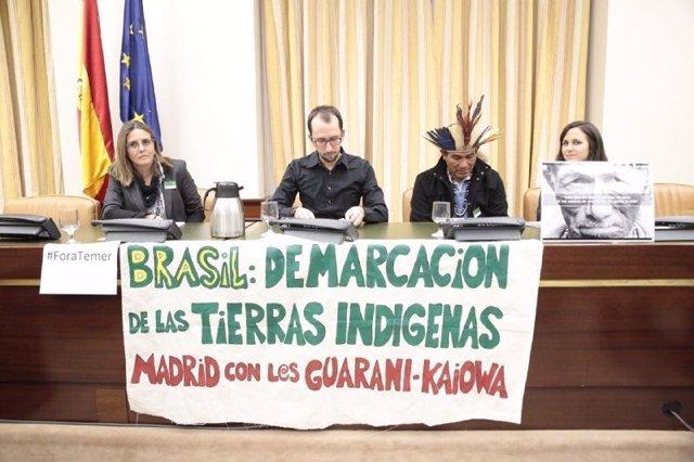 Representante del pueblo guaraní-kaiowá en el Congreso