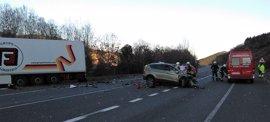 Muere un vecino de Orkoien en la colisión entre un turismo y un camión en Arre
