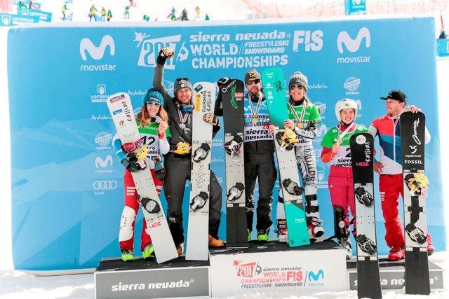 Andreas Prommegger y Ester Ledecka, campeones del mundo en Sierra Nevada