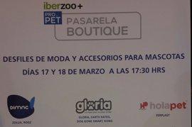 La pasarela Boutique presenta los productos y accesorios para mascotas más atractivos en el Salón Iberzoo+Propet