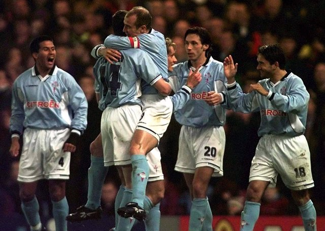 Cáceres, Mostovoi, Berges, Juan Sánchez, el Celta en la UEFA 1998