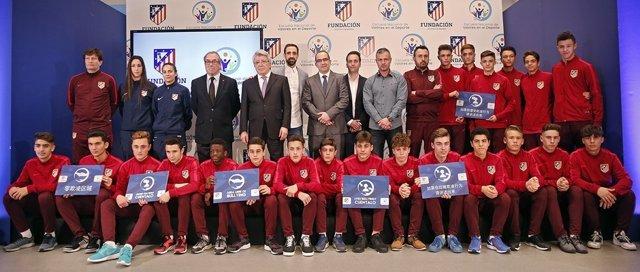 El Atlético de Madrid apoya la lucha contra el acoso escolar