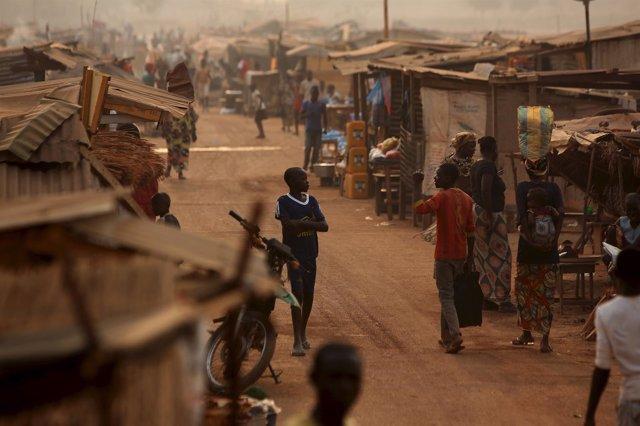 Desplazados por la violencia en República Centroafricana