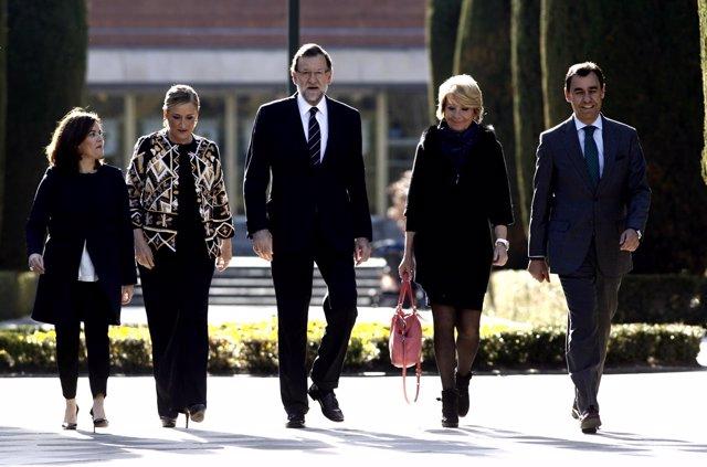 Soraya Saenz Santamaría, Cifuentes, Rajoy, Aguirre y Fernando Martínez Maillo