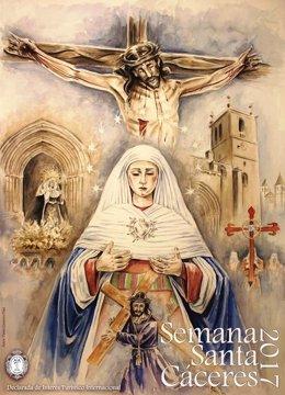 Cartel de la Semana Santa de Cáceres 2017
