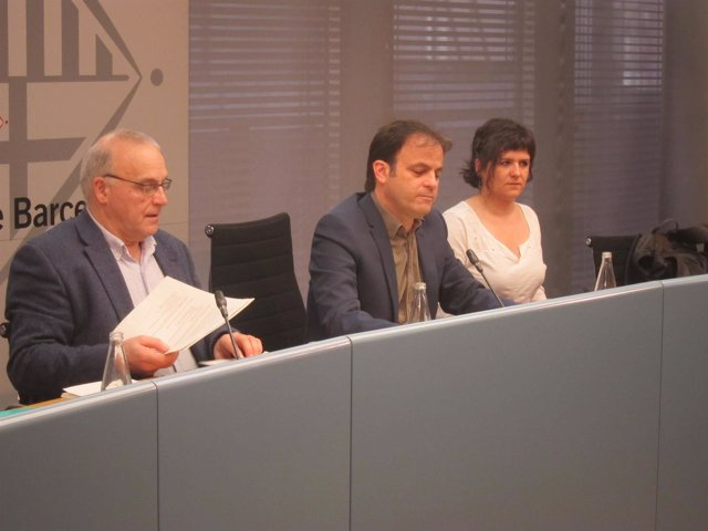 Gala Pin, Jaume Asens y Fernando Pindado
